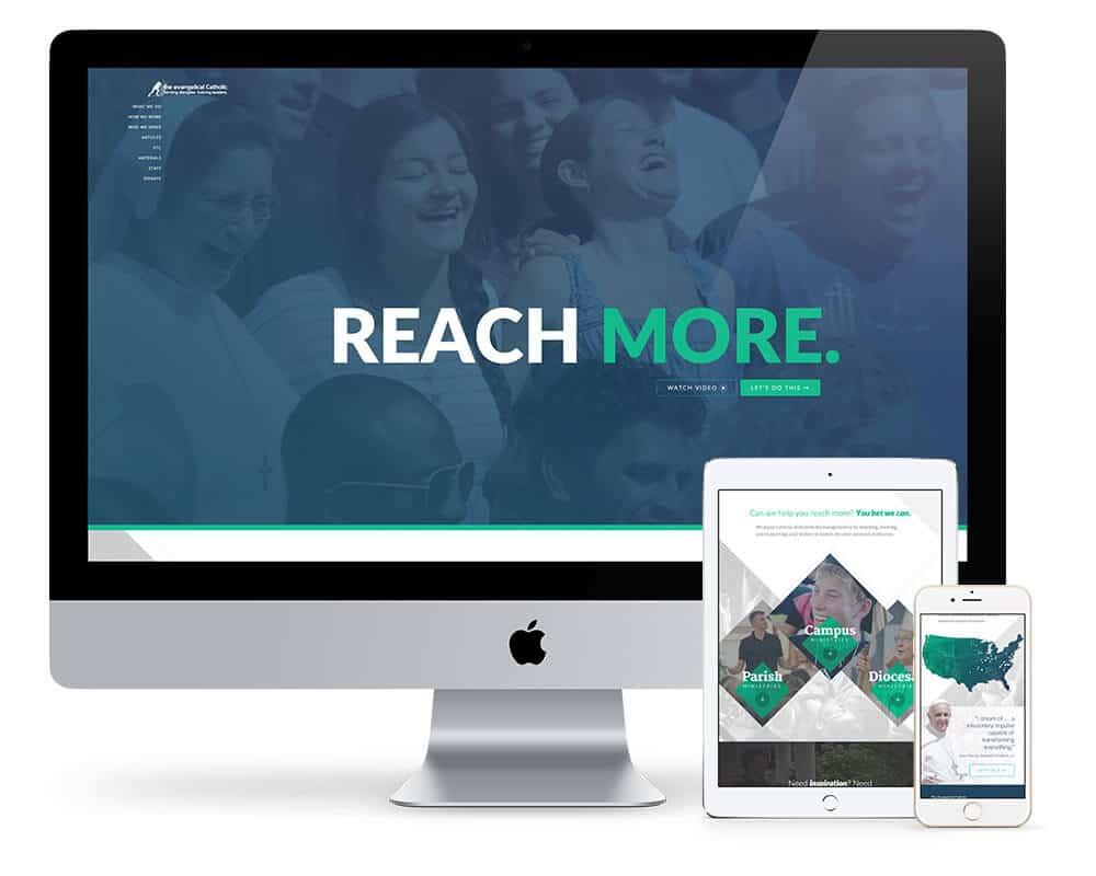 The new, fully responsive evangelicalcatholic.org